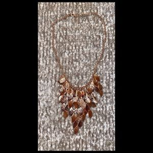 Rose Gold Draped Necklace